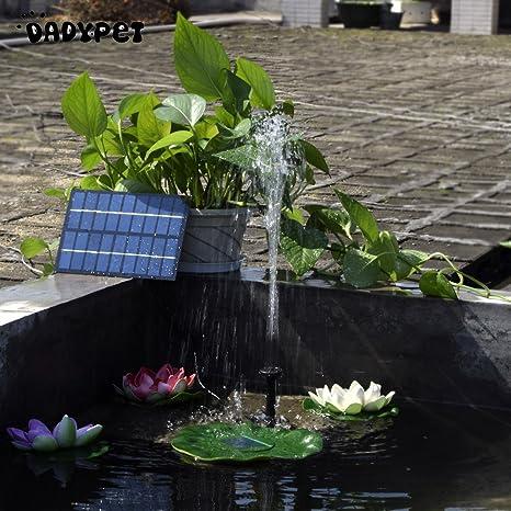 Pinkdose® Black: Solar-Powered Water Pump Kit 8V 1.8W Solar Panel Water Floating Solar Powered Fountain for Bird Bath Pond Garden