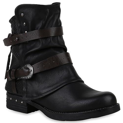 Stiefelparadies - Zapatillas Mujer , color negro, talla 37