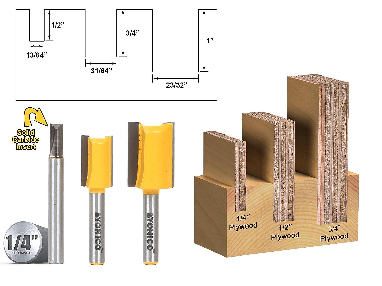 B00XWEY0QG Yonico 14323q 3 Bit Undersize Plywood Dado Router Bit Set 1/4-Inch Shank 71hFDUn21bL