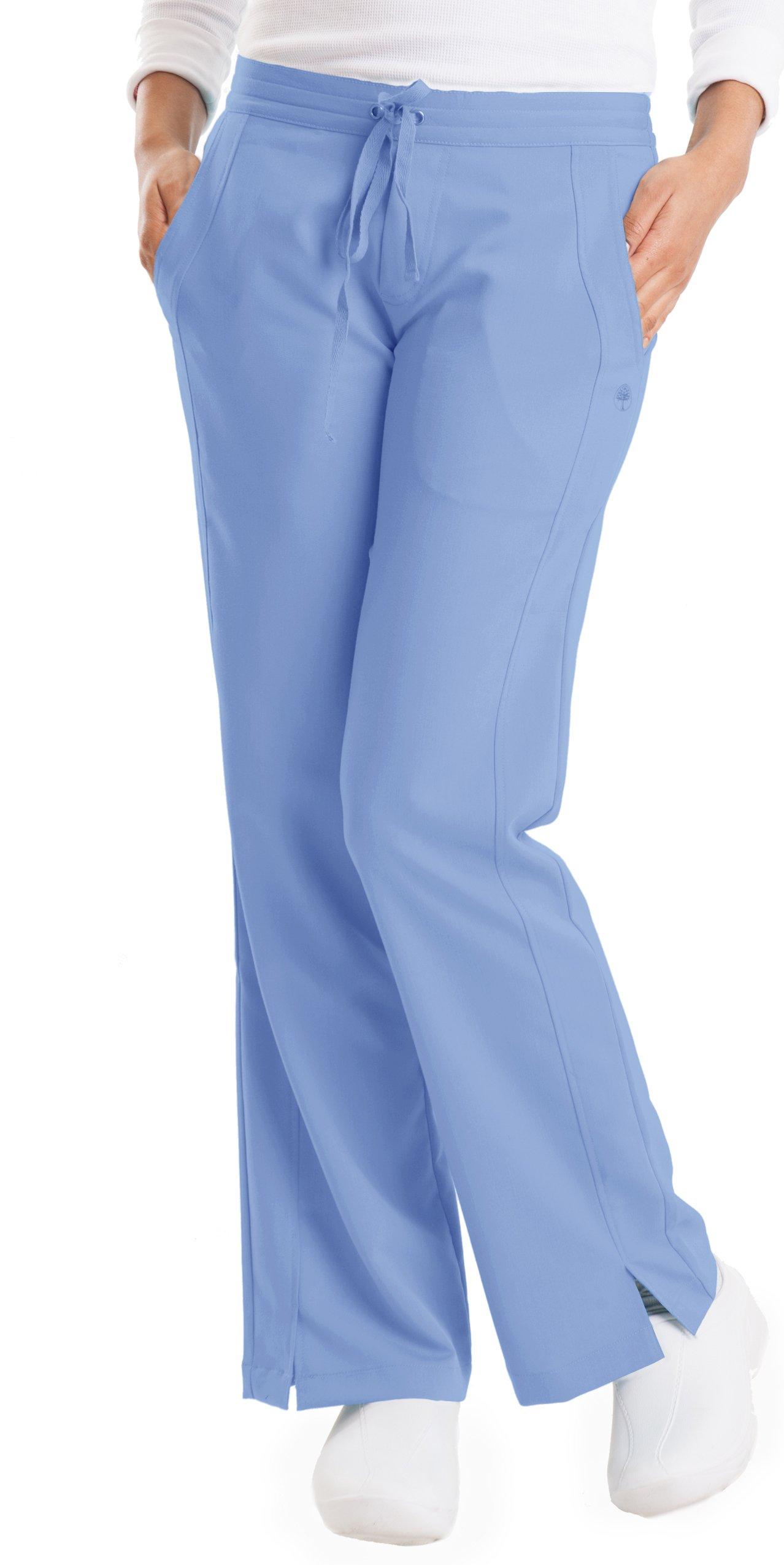 Healing Hands Purple Label Women's Taylor 9095 2 Pocket Drawstring Scrub Pant Scrubs- Ceil Blue- LT