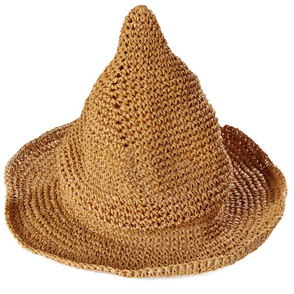 Leisial Sombrero Gorra Paja de la playa Gorro de Viaje Protector Solar Sombrero de Sol Respirable Sombrero Creativo Lindo Verano Primavera para los Unisex Bebé Niños , Caqui A18003429YNC106