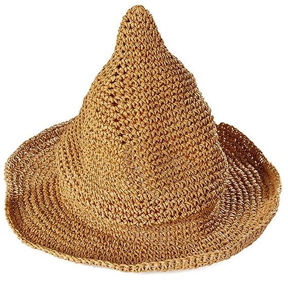 Leisial Sombrero Gorra Paja de la playa Gorro de Viaje Protector Solar  Sombrero de Sol Respirable 6fe8bee7fbbf