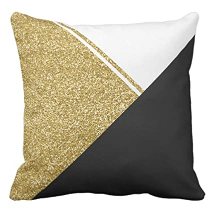 Amazon Emvency Throw Pillow Cover Elegant Modern White Gold Awesome Black And Gold Decorative Pillows
