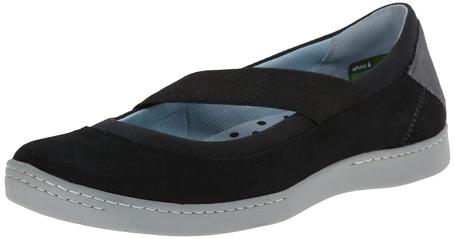 Ahnu Women's Telegrapg Leather Ballet Flat B00LZXEDBS 7.5 B(M) US|Black