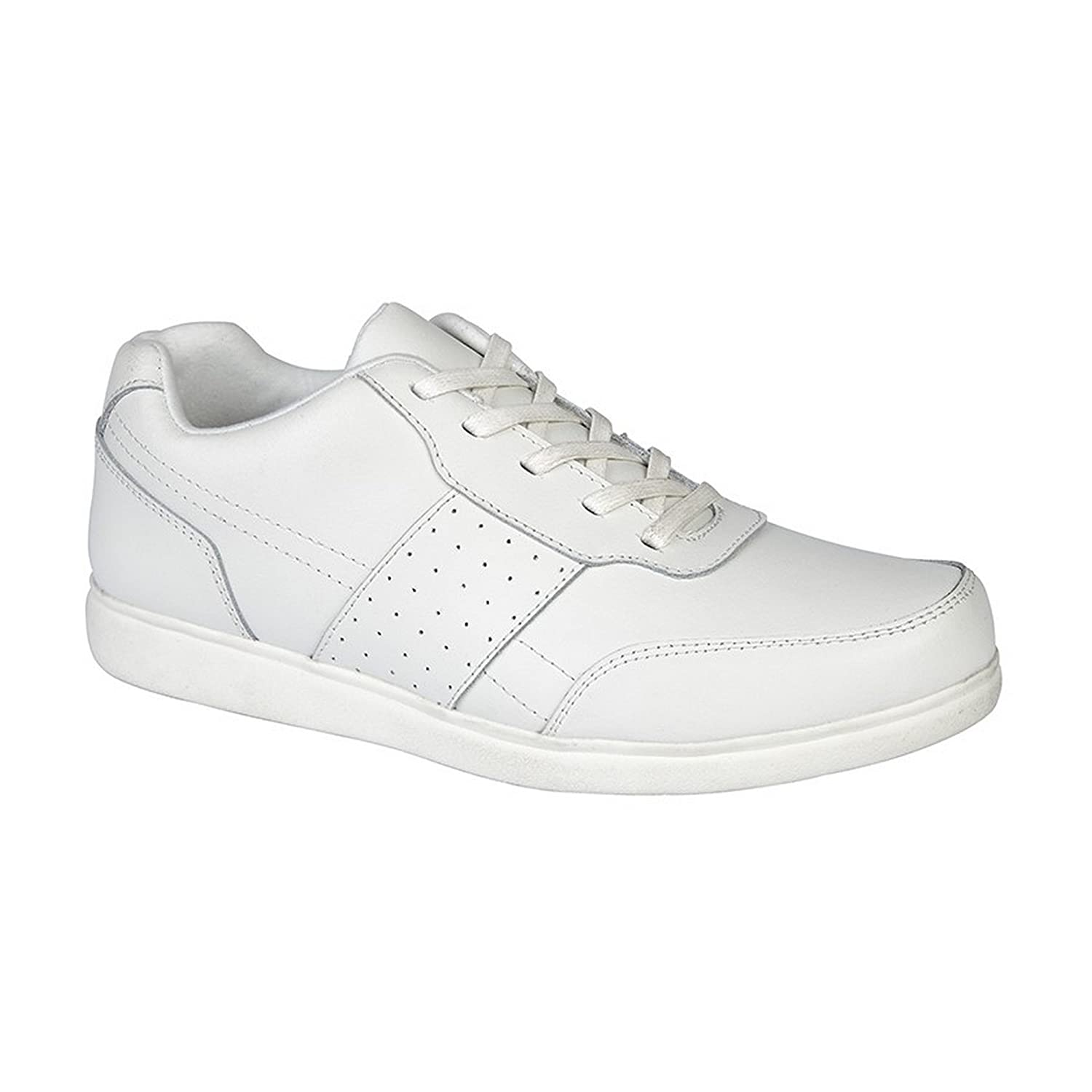 Dek Mens Strike Coated Leather Lace up Bowling Shoes