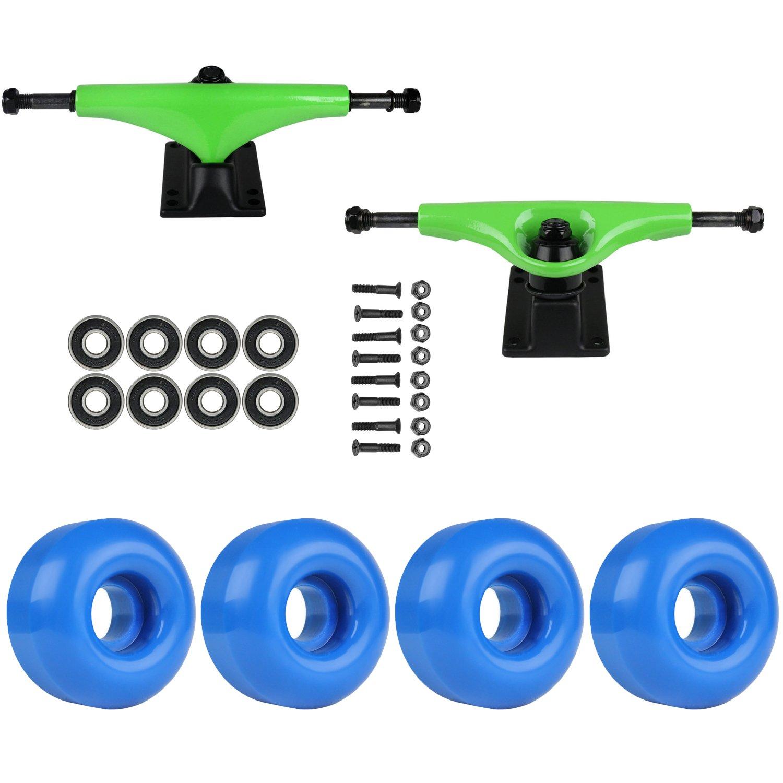 スケートボードパッケージHavocグリーン5.0 Trucks 53 MmロイヤルブルーABEC 7 Bearings   B01IFAK1HS