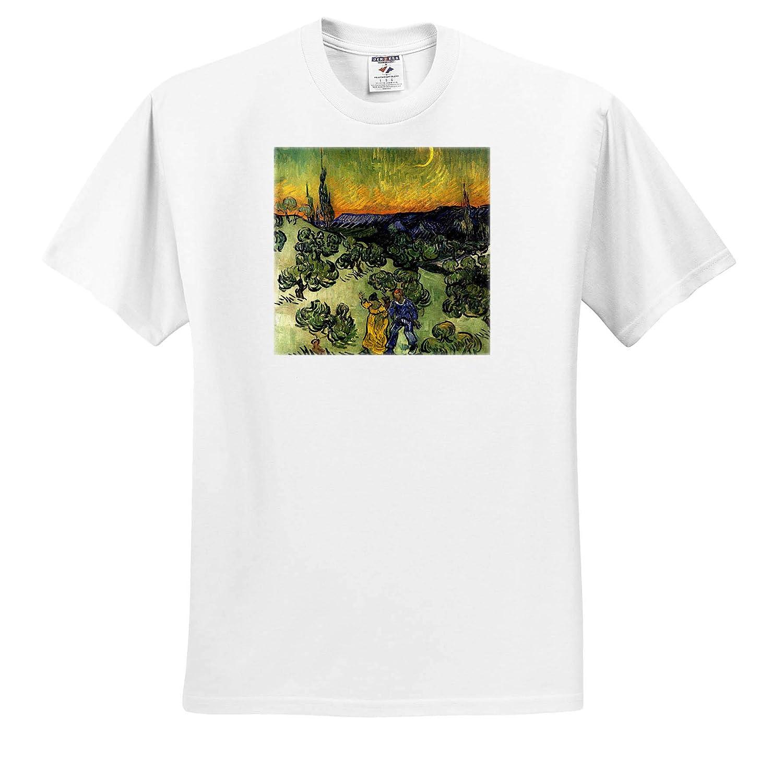 3dRose VintageChest Masterpieces Van Gogh T-Shirts Evening Promenad