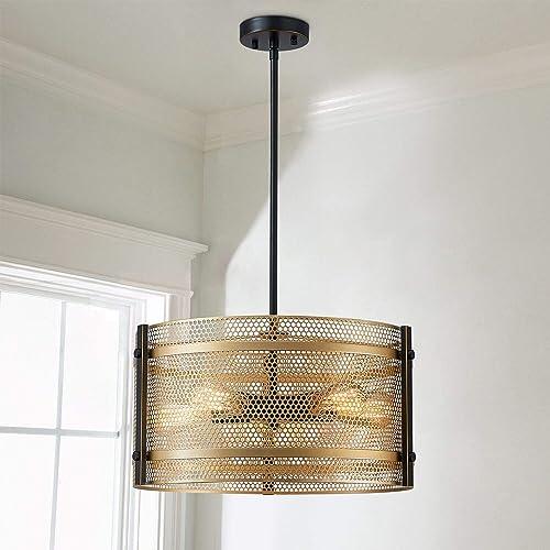 Saint Mossi 5-Light Modern Farmhouse Chandelier Light Fixture,Modern Pendant Light Gold Pendant Light Fixture Gold Chandelier