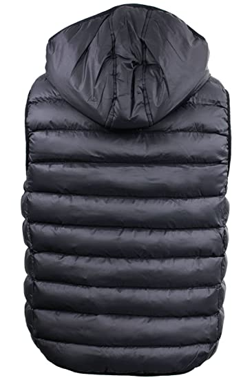 7b7a36c36 Mens Padded Gilet by Brave Soul Hooded Body Warmer Sleeveless Warm ...