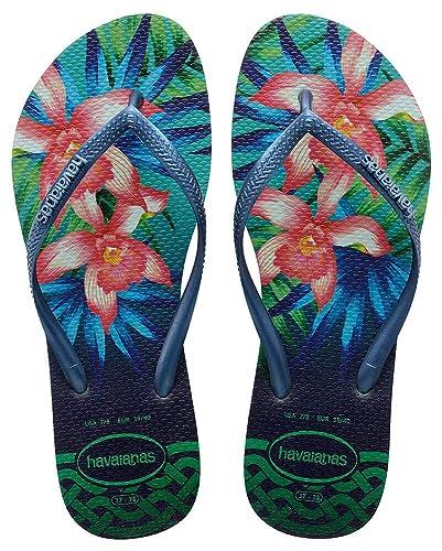 366e4ec3a Havaianas Flip Flops Women Slim Tropical  Amazon.co.uk  Shoes   Bags