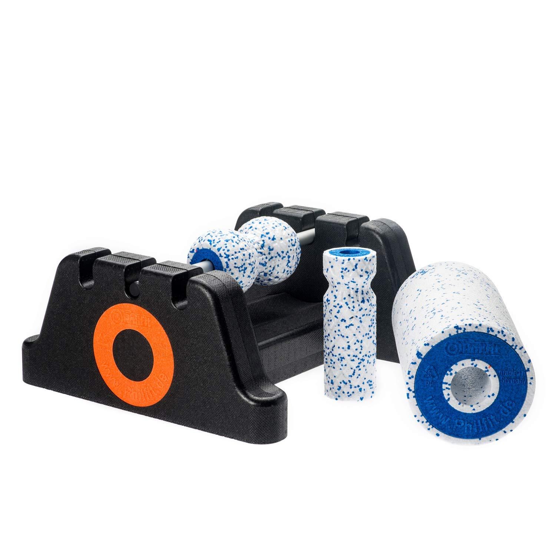 PHILFIT Bundle Expert Soft, weiß/blau mit Boden- und Wandhalterung