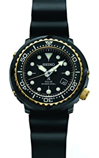 Seiko Prospex Solar Dive Watch with Black Silicone Strap 200 m SNE498