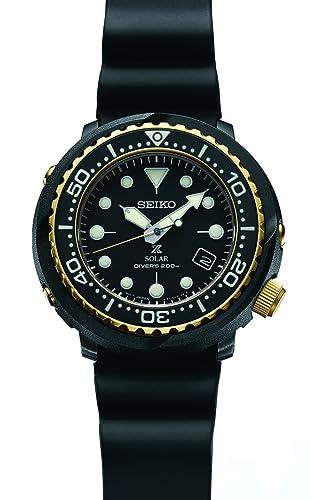 Seiko Prospex SNE498 - Reloj solar con correa de silicona (200 m), color negro: Amazon.es: Relojes