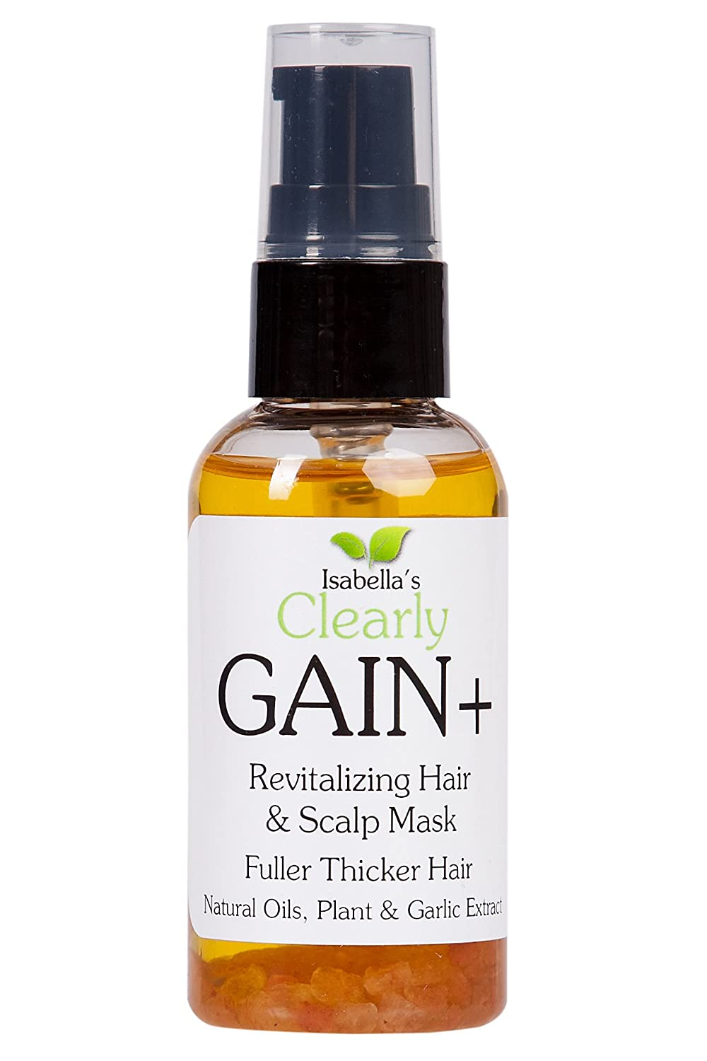 Isabella's Clearly GAIN+. Best Natural Hair Regrowth Treatment and Thickener. Stop Hair Loss, Thinning Hair, Strengthen Roots, Grow Hair Fast. Powerful Mask with Jojoba, Garlic, Castor Oil, Clary Sage, Stinging Nettle, Vitamins. Men and Women (2 Oz) Isabel
