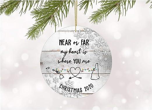 Christmas In New Hampshire 2020 Amazon.com: Christmas Ornament 2020 Hawaii New Hampshire Near or
