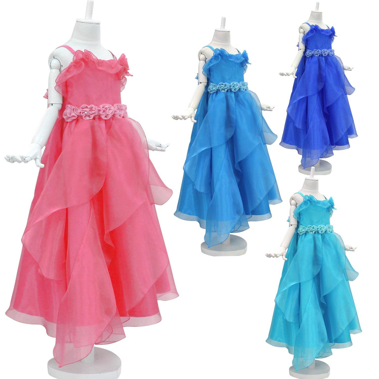 Amazon   ドリーム企画 子供ドレス 発表会 ロングドレス d-0061 パニエ内蔵   フォーマル 通販