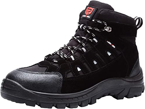LARNMERN Mens Safety Boots Steel Toe Cap Work Breathable Lightweight Hiker Shoes