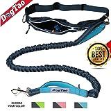 DogTao • Hunde Joggingleine mit Bauchgurt - Anti-Shock Jogging Hundeleine für Große und Kleine Hunde - Elastische, Reflektierende und Starke Laufleine
