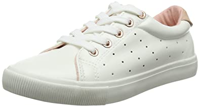 1d7705a5f09c6 New Look Girls' Mysti Trainers, White (White), 3 UK 36 EU: Amazon.co ...
