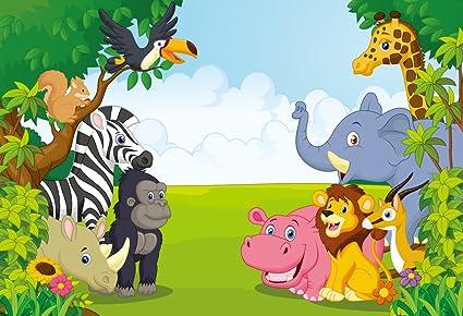 Amazon.com: HUAYI 7x5ft Jungle safari backdrop photo background ...