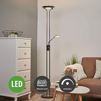 LED Lampadaire Aras à intensité variable (Moderne) en Noir ...