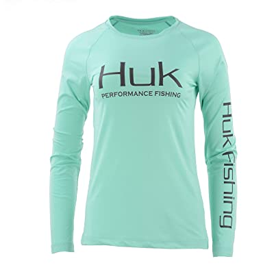 HUK Women's Pursuit Vented Long Sleeve Shirt: Clothing