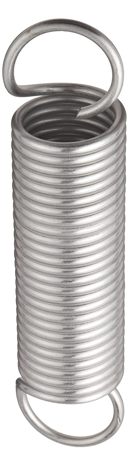119.22 lbs Load Capacity Pack of 10 6.5 Free Length 28.11 lbs//in Spring Rate Extension Spring 0.207 Wire Size 2 OD 10.35 Extended Length 2 OD 0.207 Wire Size 6.5 Free Length 10.35 Extended Length E20002076500S 302 Stainless Steel Inch