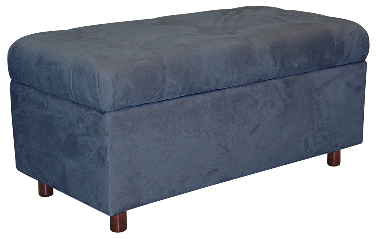 Amazon.com Skyline Furniture Belden Tufted Storage Bench by in Red Micro-suede Kitchen u0026 Dining  sc 1 st  Amazon.com & Amazon.com: Skyline Furniture Belden Tufted Storage Bench by in Red ...