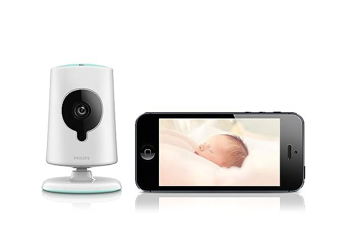 Philips B120S/10 - Cámara de vigilancia (inalámbrica, HD, compatible con Android y iOS), blanco: Amazon.es: Electrónica