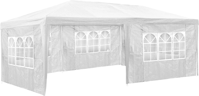 TecTake 800382 Carpa Pabellón 6x3m   5 Paneles Laterales   Tiendas Eventos & Fiestas Jardin (Blanco   No. 402301): Amazon.es: Jardín