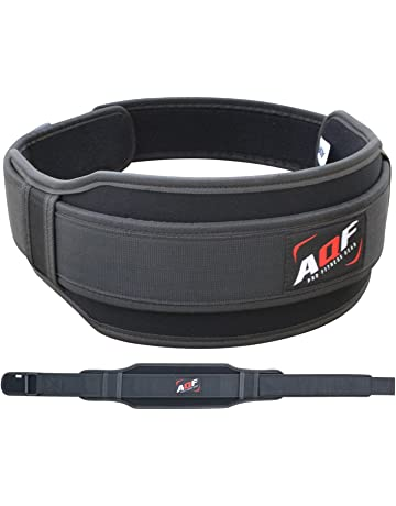 EKON Weight Lifting Belt for Men Gym Fitness Training Neoprene Padded Double Belt for Women with Lumbar Back Support Great for Bodybuilding Powerlifting Deadlifts Workout /& Squats