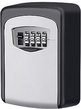 Wall Mounted Waterproof Key Lock Box Cash Key Safe Box for Indoor Outdoor