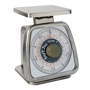 Taylor Precision Products Stainless Steel Analog Portion Control Scale (5-Pound)