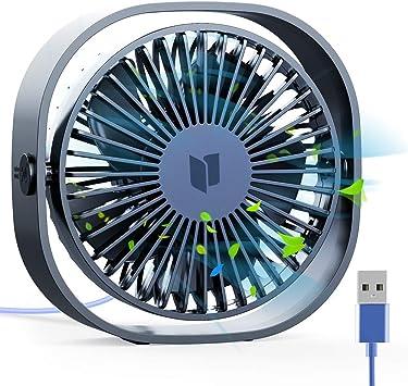 RATEL Ventilador de Mesa USB, Ventilador de Escritorio 12.5 cm Use ...