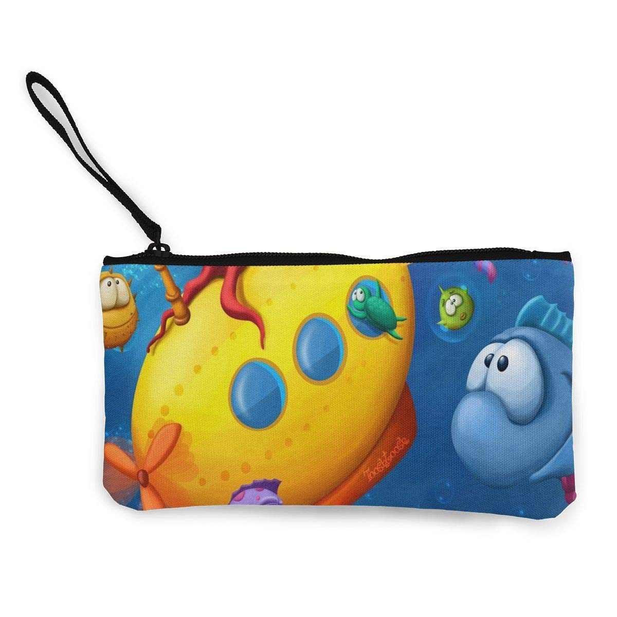 Coin Purse Funny Fish Teen Girls Fastener Canvas Purse Wallet TravelSpecial Case