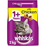 Whiskas 1+ Complete Dry Cat Food with Chicken, 2 kg