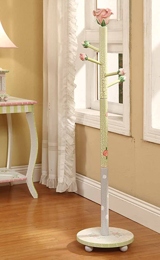 Fantasy Fields - Crackled Rose Thematic Kids Coat Rack   Imagination Inspiring Hand Crafted & Hand Painted Details Non-Toxic, Lead Free Water-based ...