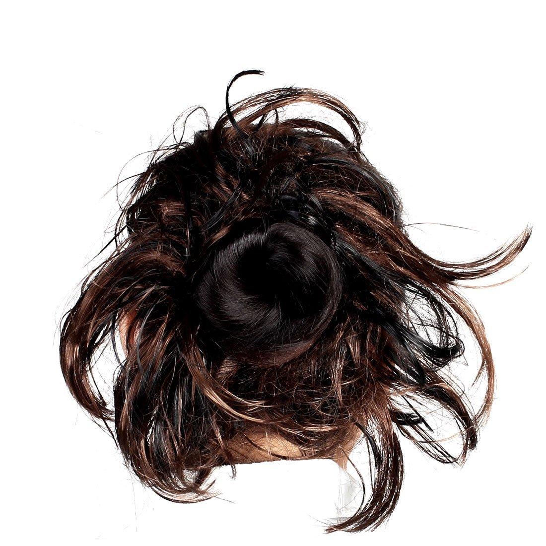 Amazon.com: Banda de Pelo Corto Estilo eDealMax Cola de Caballo rizada peluca elástico Negro Color café: Health & Personal Care