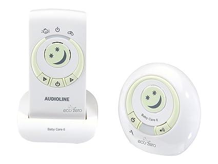 Audioline 594180 BabyCare 6 Eco Zero - Sistema de vigilancia para dormitorio de bebés [importado de Alemania]