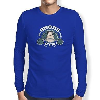 Texlab Snore Gym - Herren Langarm T-Shirt, Größe S, Marine