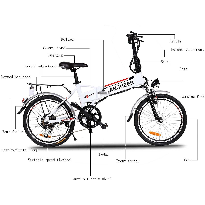 Ancheer Vélo Eectrique Pliable 20