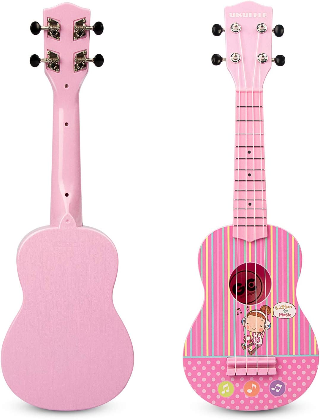 Children Musical Instrument Fun Educational Early Learning Toy 4 String Guitar Ukulele with Gift Box for Toddlers ROFAY 23 Inch Ukulele Toy for Kids