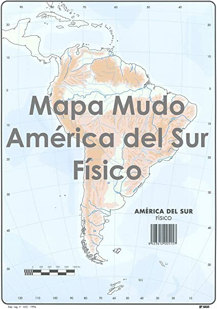 Mapa Mudo SELVI Color Din-A4 América Del Sur Físico, Caja x50: Amazon.es: Oficina y papelería