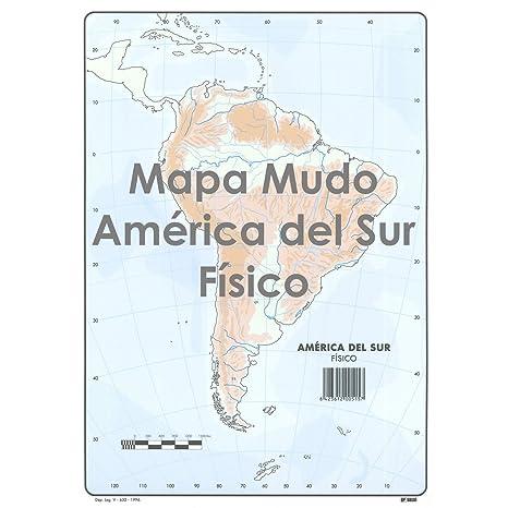 Mapa Mudo De America.Mapa Mudo Selvi Color Din A4 Physical Box X50 America Del