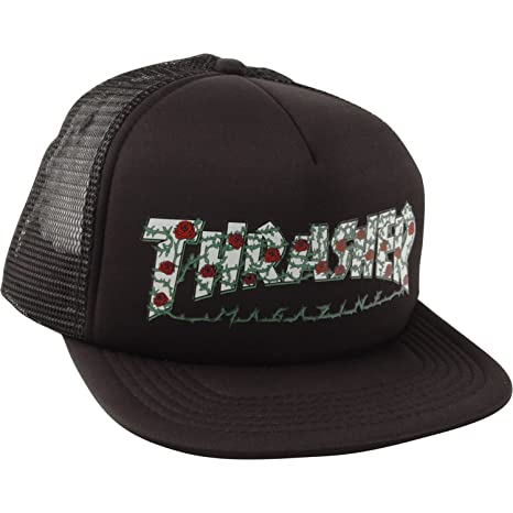 e87404435d3 Amazon.com  Thrasher Magazine Roses Black Snapback Hat - Adjustable  Sports    Outdoors