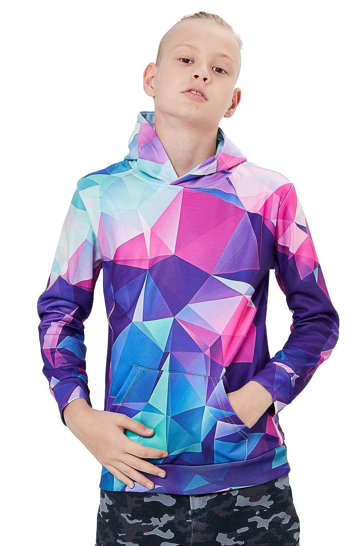 4-14 Yr Goodstoworld Unisex Kids Boy Girl 3D Hoodie Colorful Galaxy Fleece Sweatshirts Pockets Pullover Hoodies