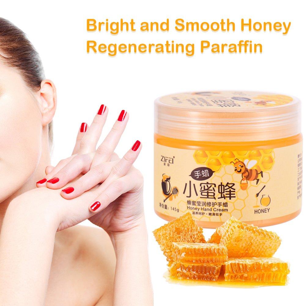 Honig Milch Handpflege Hand Wachs Exfoliating Remove Dead Skin Hand Mask Feuchtigkeitsspendende Aufhellung Peeling Kallus Maske Peel off Handmaske 145g Molie