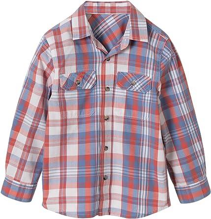VERTBAUDET Camisa niño a Cuadros: Amazon.es: Ropa y accesorios