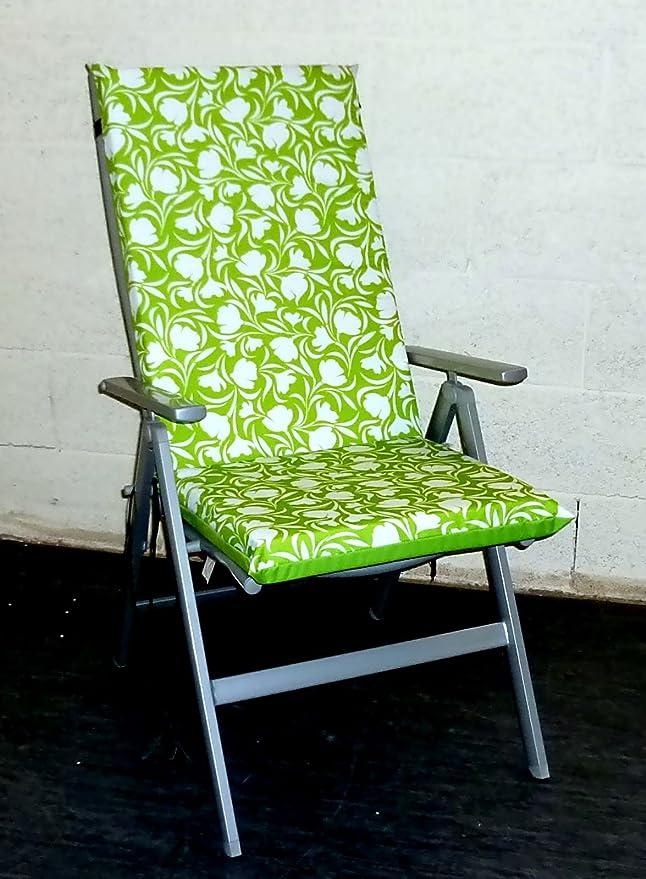 Sillón respaldo alto Zippy cojín - tela impermeable - cal Tulip - muebles de jardín sillas multiposición encaja: Amazon.es: Jardín