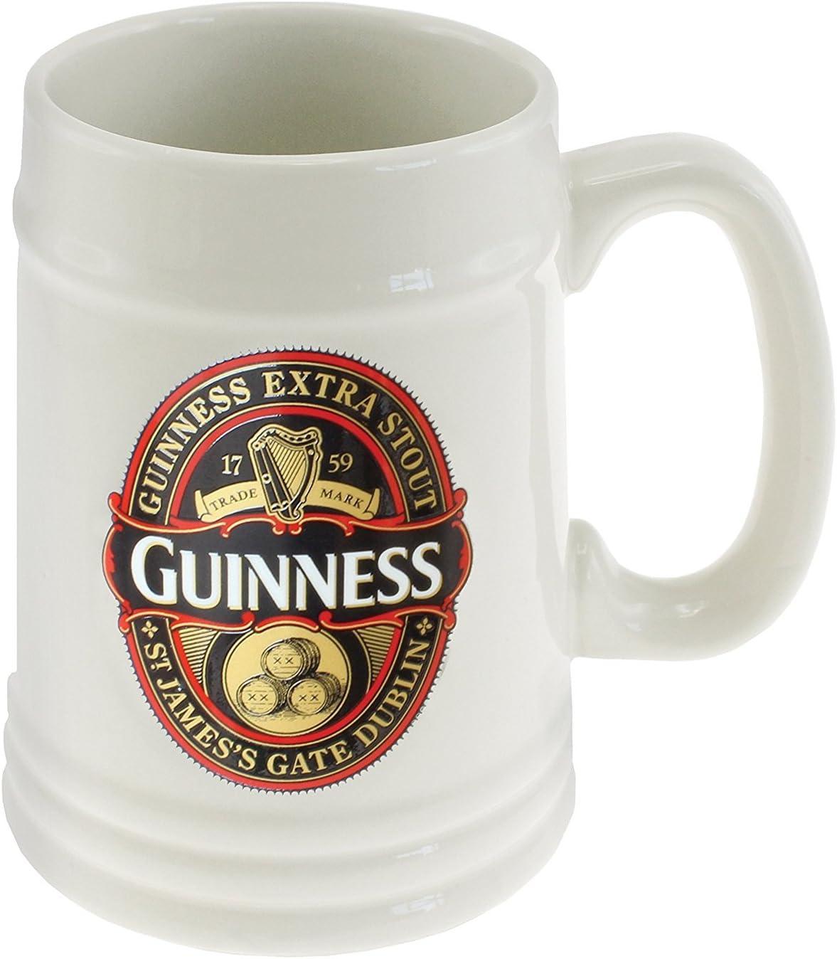 Edición de coleccionista de jarra de cerveza Guinness 2016 - rojo/negro de la etiqueta
